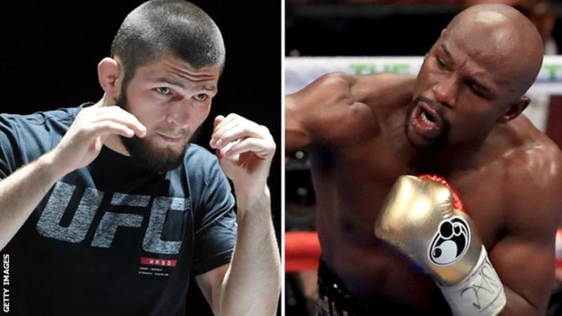 Floyd Mayweather tells UFC's Khabib Nurmagomedov 'come into my world'