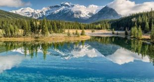 A lake in Banff National Park, Alberta, Canada. Sergey Pesterev/Unsplash, CC BY-SA
