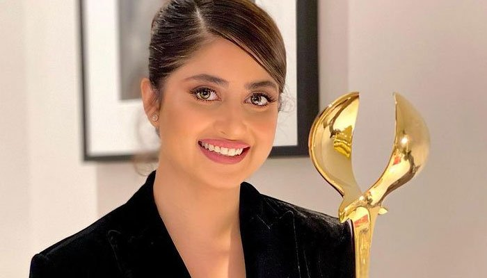 Sajal Ali receives love from fans and fellow stars after winning DIAFA award