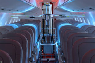 These Swiss robots use UV light to zap viruses aboard passenger planes