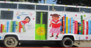 Alif Laila book bus society – knowledge on wheels