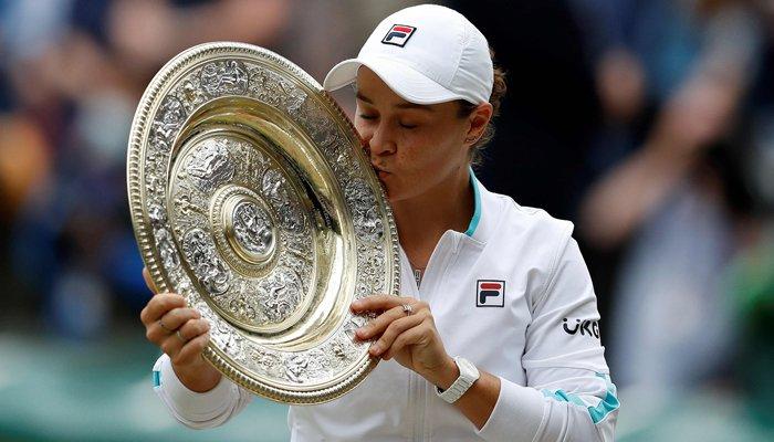 Australian Ash Barty beats Karolina Pliskova to win first Wimbledon title